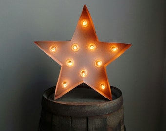 "Light Up 12"" Star Marquee Sign"