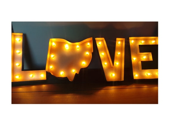 12 LOVE Your State Light Up Marquee Sign CUSTOM STATES