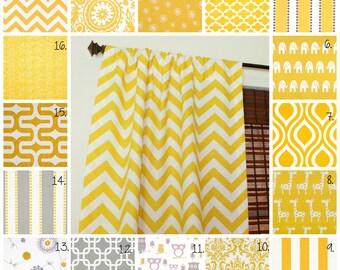 Curtain Panels Set Corn Yellow Drapes Corn Yellow Curtain Panels Grey Curtain Panels Gray Curtain Panels Owl Curtains Nursery Curtains