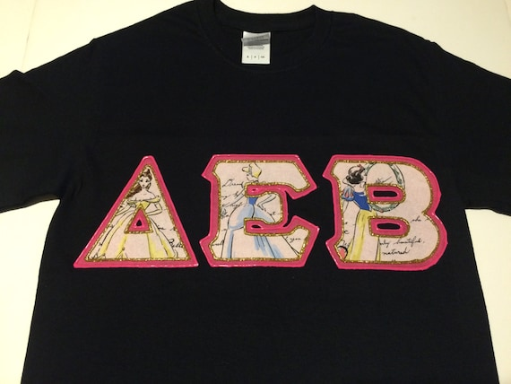 greek letter shirts custom letter shirt delta epsilon beta 1269