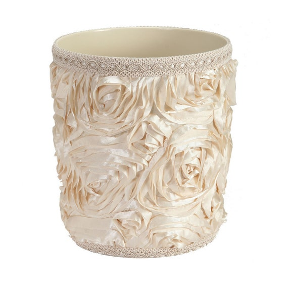 Items similar to elegant decorative waste basket on etsy for Decorative items from waste