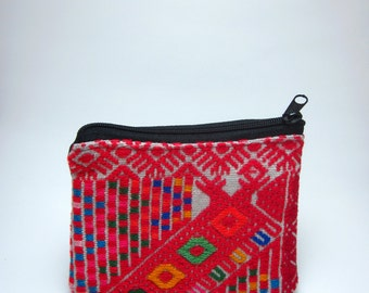 Woven Coin Purse from Mexico, Bright Red