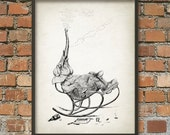Whimsical Elephant Illustration 4 - Vintage Elephant Art Poster