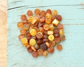50 Pcs. Authentic Raw Baltic Amber Loose Beads