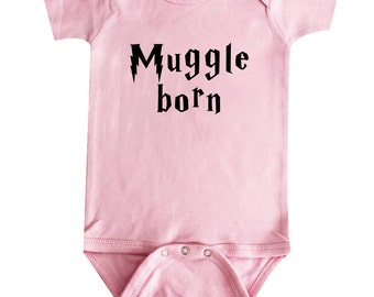 Muggle Born Harry Potter Baby Clothing Funny Baby Clothing