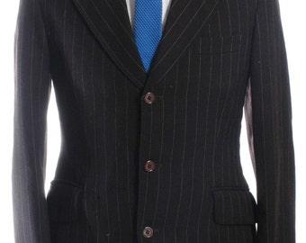 Vintage Kilmaine Brown Pinstripe Mod Suit 38 S - www.brickvintage.com