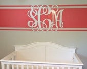 Wood Monogram Wall Decor, PAINTED Monogram, Wooden Wall Monogram, Home Decor, Script Monogram, Wall Hanging, Wedding Decor