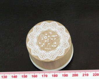 Nature Flowers Round Rubber Stamp