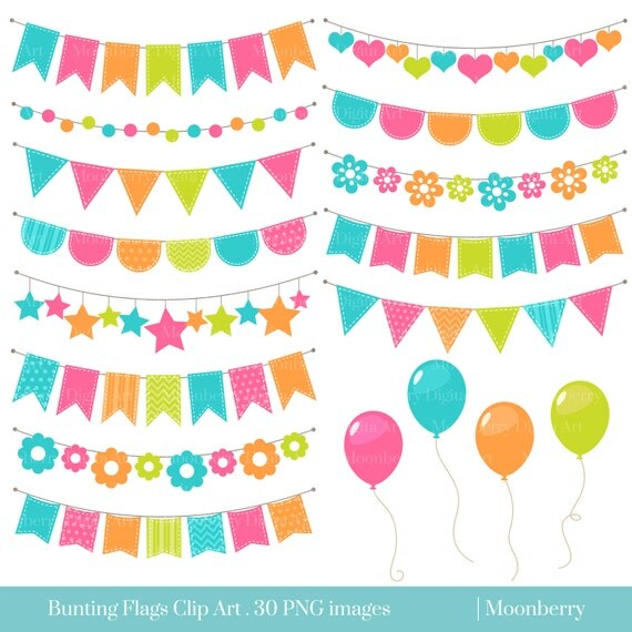 Bunting Banners Clipart BUNTING CLIPART