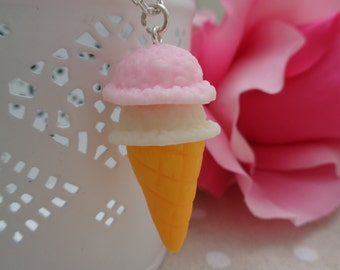 Double scoop ice cream necklace.