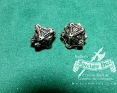 Stainless Steel Metal D10 Gaming Dice by Butler's Specialty Dice