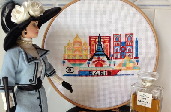 Paris-Modern Cross Stitch patern PDF-Instant download from ...
