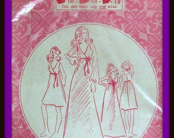 Vintage Patterns Pacifica  Womens Dress Sizes 10,14,18