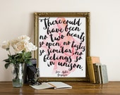 """Persuasion Quote, Wall Art,  Book Quote Print, Jane Austen Print, Jane Austen Quote, Book Quote, Typography Print, Love Quote, """"Print"""""""