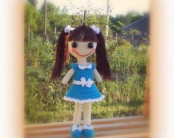 Crochet doll pattern Dorka doll