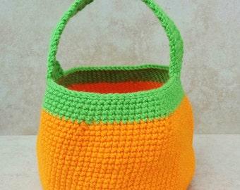 Large Crochet Pumpkin Bag. Halloween Treat Bag. Crochet Bag. Crochet Pumpkin. Halloween Pumpkin.