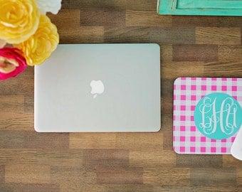 Monogrammed Mousepad, Mouse Pad, Monogram Mousepad, Custom Mousepad, Personalized Mousepad, Coworker Gift, Dorm Decor, Teacher Gift, Desk