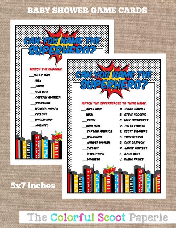 superhero baby shower game printable baby shower games printable