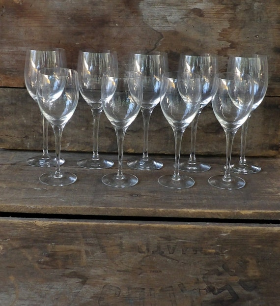 Orrefors Crystal Wine Glasses Red And White Set Of 9 Sweden