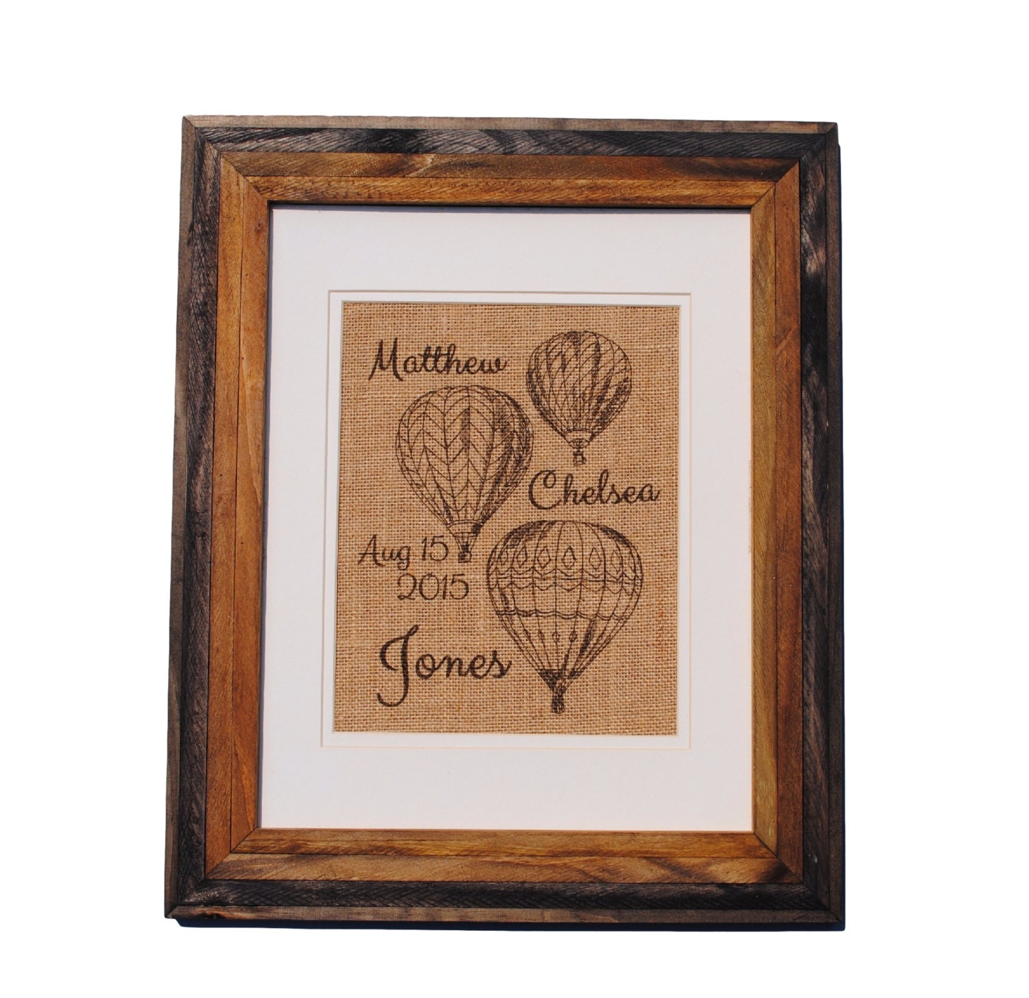 Wall Decor Gifts : Personalized wedding gift wall art hot air balloons