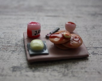 MAGNET/ Miniature Breakfast Tray with Pancakes