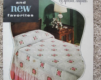 Crochet Book - Old and New Favorites - Clarks #308 - Vintage 1954