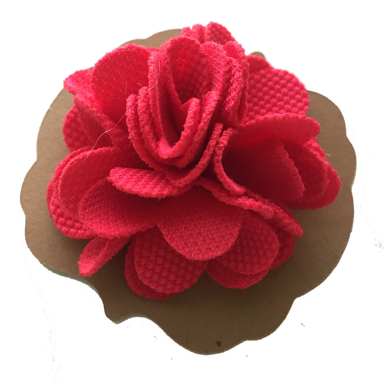 Hot Pink Textured Fabric Lapel Flower Mens Lapel by LiamsLapels