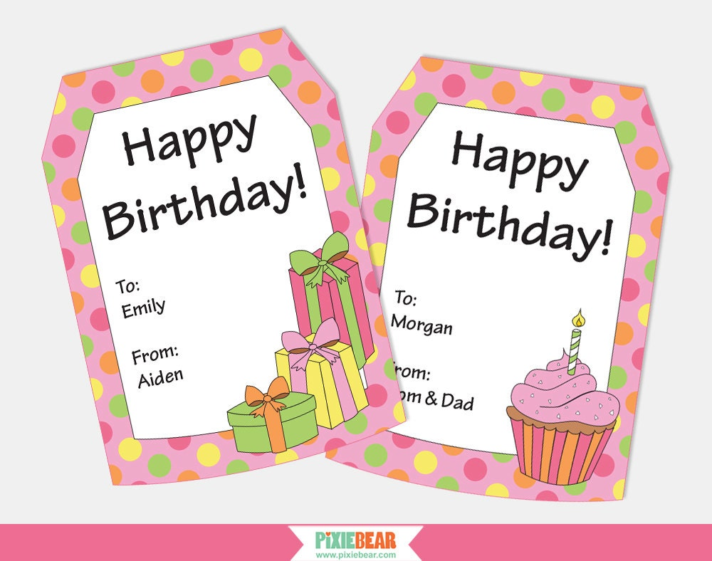 Satisfactory image with party favor tags free printable