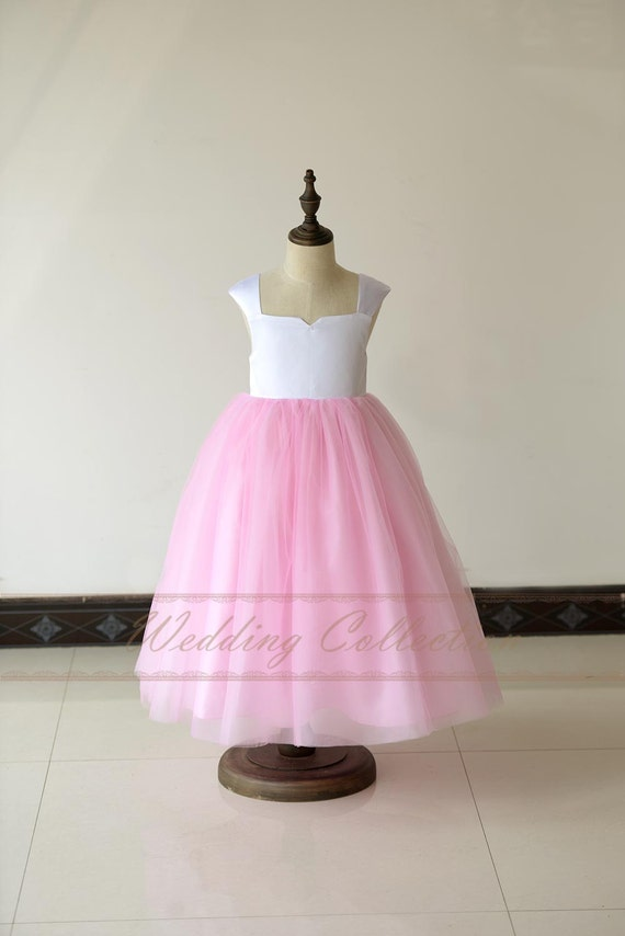 how to make a flower girl dress out of tulle