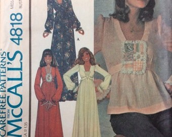McCall's 4818 UNCUT Misses' Dress or Top