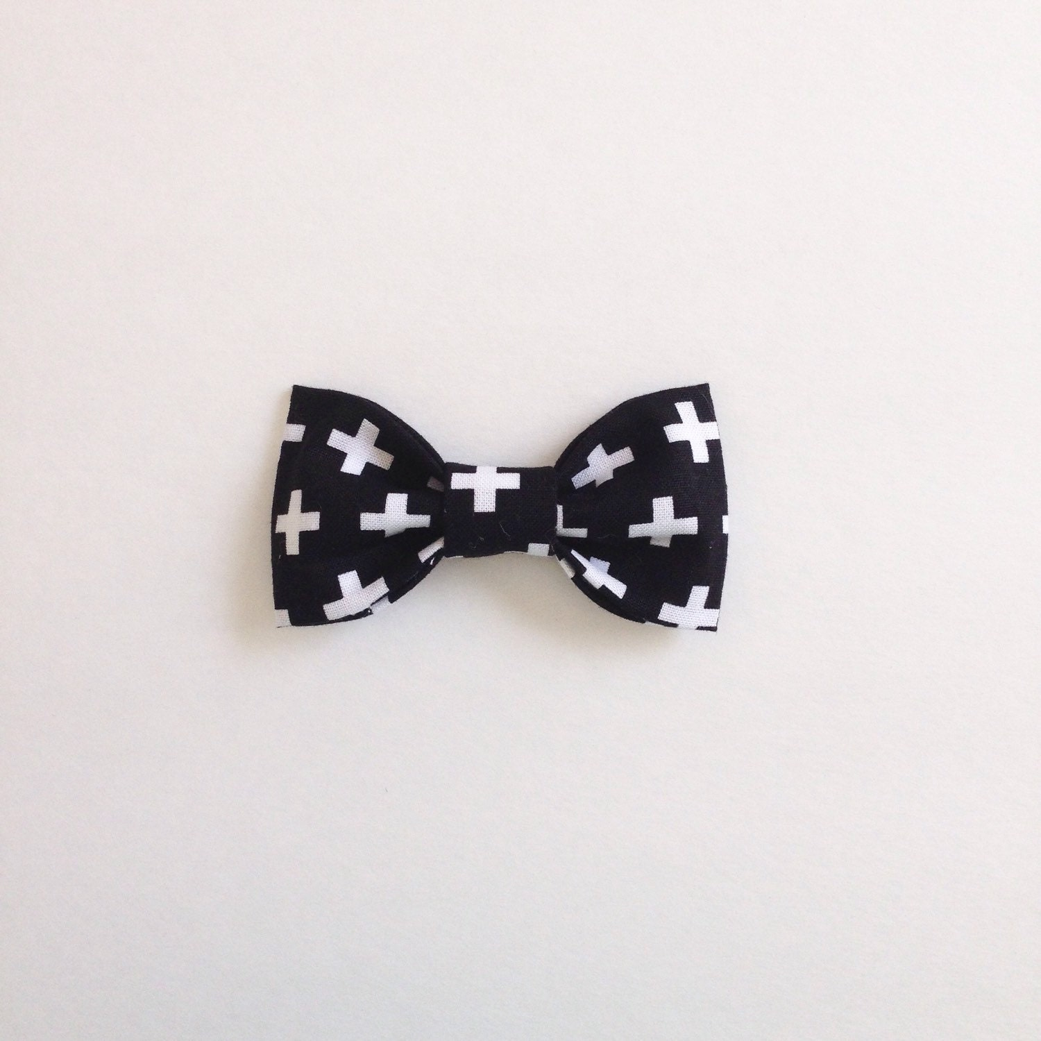 Black And White Plus. Bow Tie Hair Clip Or Clip On Bow Tie: