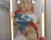 Primitive Americana Libby  tuck bowl filler doll