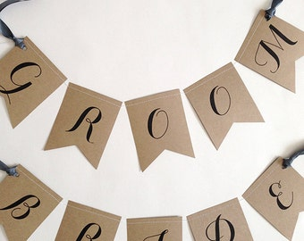 BRIDE & GROOM Chair Banners
