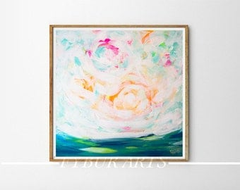 Landscape Art Abstract Print Acrylic Painting print Giclee Print sky painting Fine Art nature painting wall art modern painting colorful art