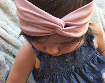 Cool Blush - newborn baby turban headband