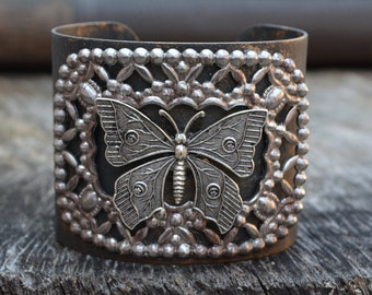 Vintage Filigree Butterfly Cuff