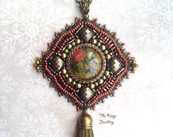 Ethnical Unakite pendant