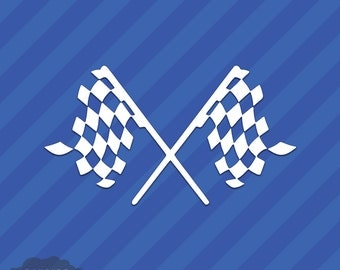Checkered Flags Vinyl Decal Sticker Racing