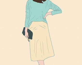 Fashionable Manga Ladies - Sibyl A4 Print