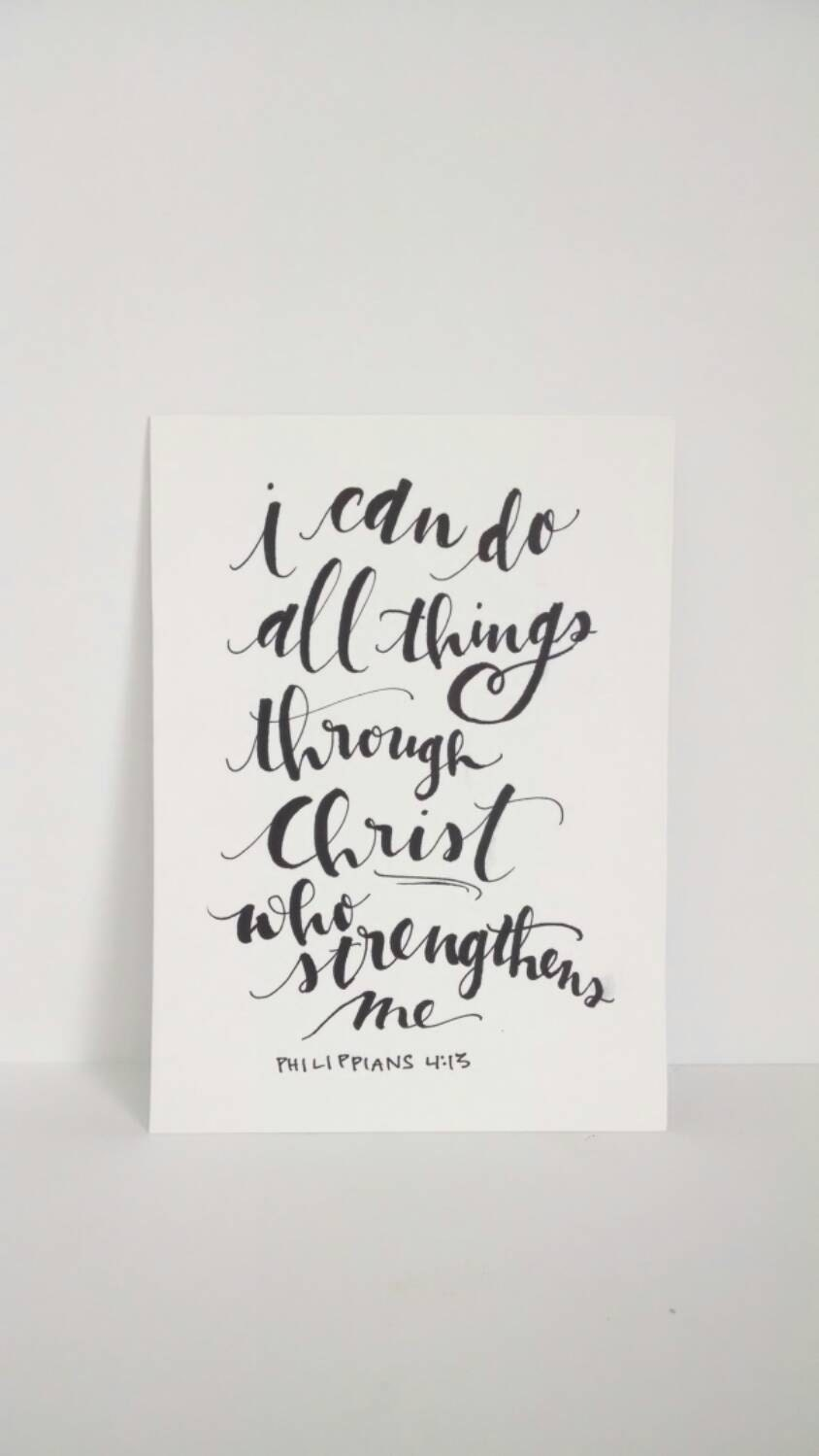 Hand Lettering Bible Verse I Can Do All Things Through