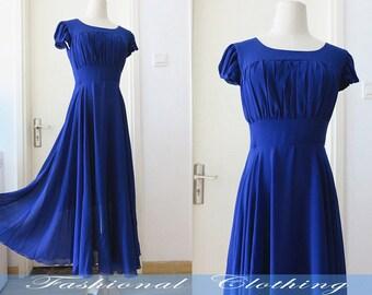 red white black blue chiffon long dress spring summer dress women clothing women dress short sleeve dress beach dress