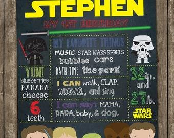 Star Wars Birthday Chalkboard