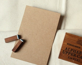 20 Good Quality 350gsm Thick Kraft Cards in Medium or Large size