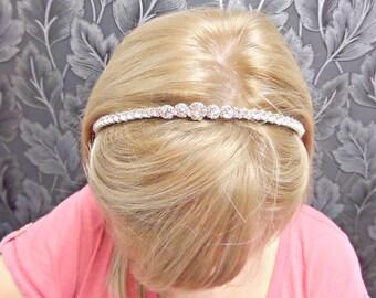 Rhinestone headband, Diamante headband, Bridal headband, Bridesmaid headband, Rhinestone tiara, Wedding hairpiece, Diamante tiara, UK seller