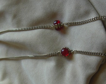 Vintage Gold chain with red balls