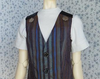 3 colors!- OOAK SD BJD Wide metallic stripe vest