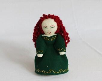 Doll, Celtic Doll, Irish Doll, Handmade Doll, Hand Made Felt Doll, Red headed Doll
