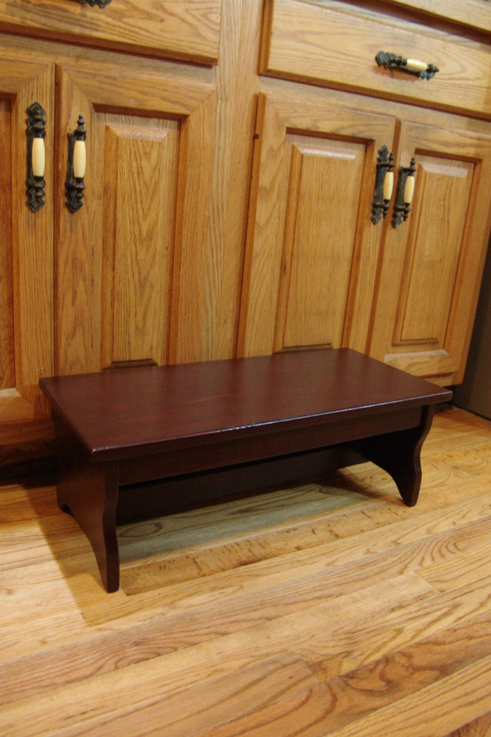 Bedside Footstool: Handcrafted Heavy Duty Step Stool Solid By WindyWoodsWoodcraft