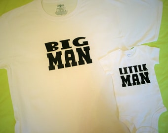 Big Man Little Man Daddy Son Shirt Set Father/Son t-shirts onesie