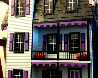 Haunted Dollhouse - Purple, Black, Gray - Gothic Dollhouse